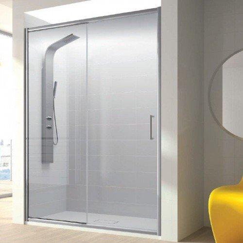 Duchas con puertas de vidrio simple cristal templado with - Puertas para duchas ...
