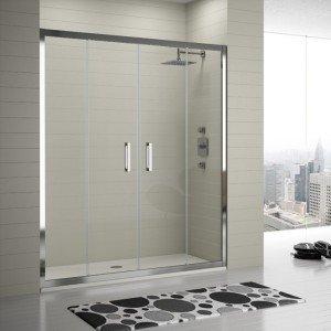 Frente de ducha 2 Fijos + 2 Puertas correderas Serie 300