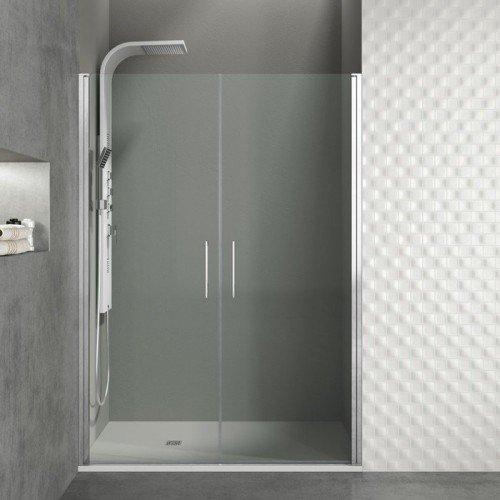 Mampara de ducha con 2 puertas abatibles 180 grados for Puertas de ducha