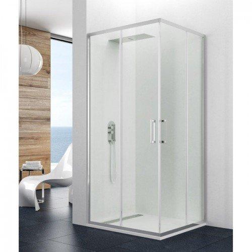 Mampara angular ducha 2 fijos y 2 correderas prestige Mamparas de ducha precios