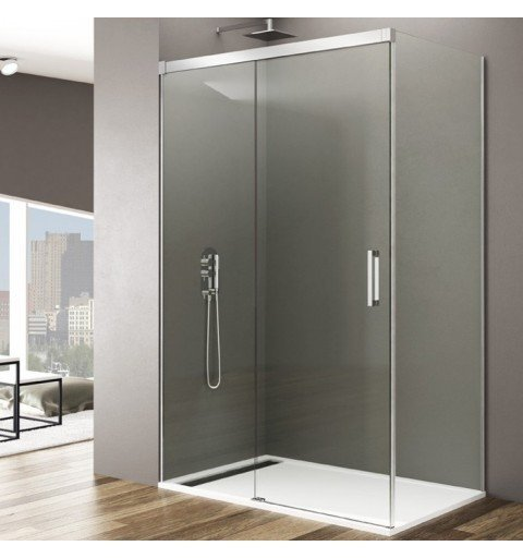 Mampara de ducha rectangular sin perfil inferior Basic