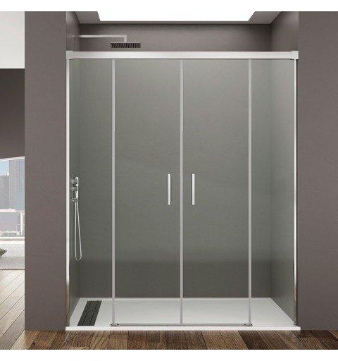 Mampara de ducha frontal 2 Fijo y 2 corredera Basic