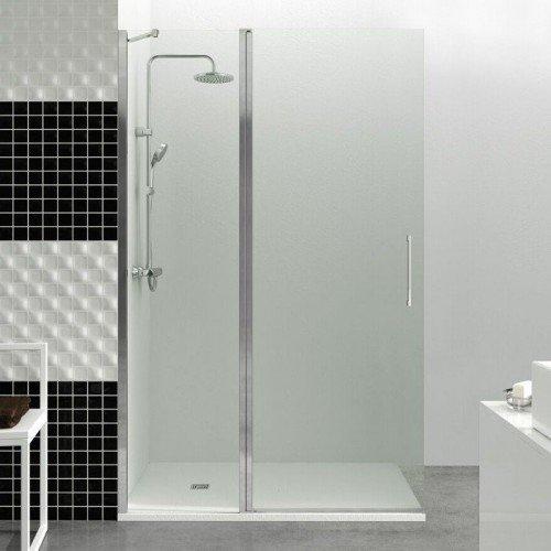 Mampara de ducha un fijo m s un abatible en el aire gme for Tipos de mamparas para platos de ducha