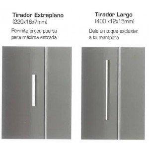 Mampara ducha frontal 1 Fijo y 1 corredera Acero Inox