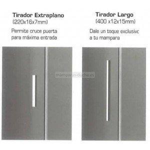 Mampara ducha frontal 1 Fijo más 1 corredera Titan gme