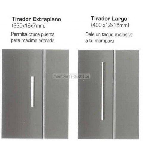 Mampara rectangular 2 Fijos y 1 corredera Acero Inox