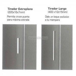 Mampara frontal 2 fijos más 2 correderas prestige Titan