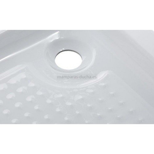 Plato de ducha semicircular acrílico antideslizante