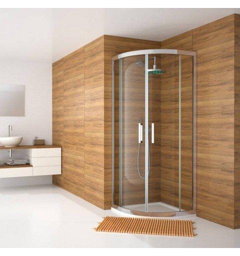 Semicircular de ducha 2 Fijos + 2 Puertas correderas Serie 300