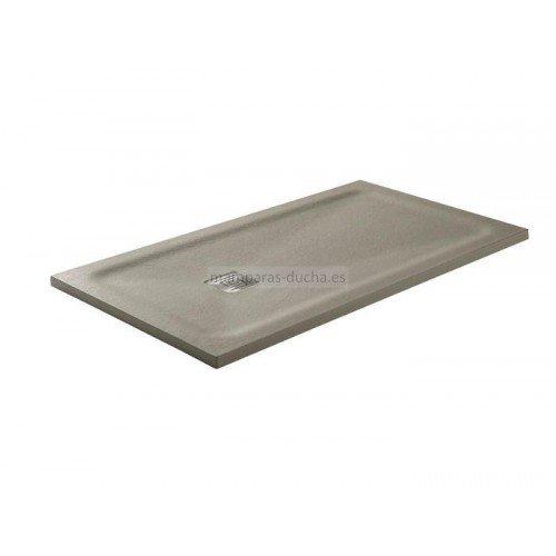 Plato de ducha carga mineral con marco oculto