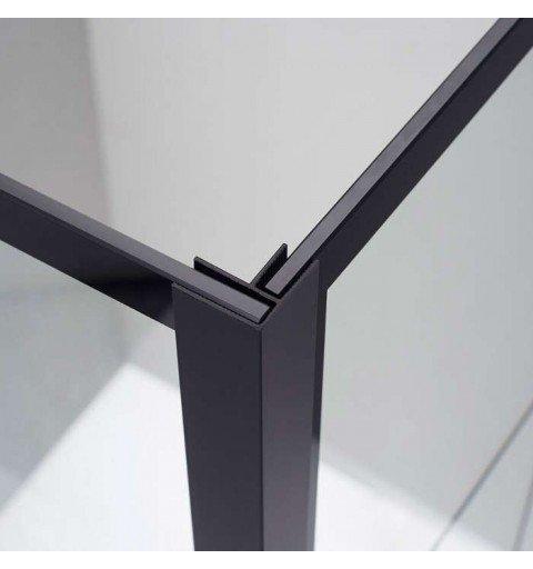 Mampara ducha rectangular fija en color negro