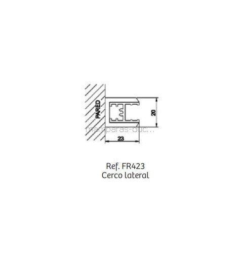 Mampara de ducha Fija + Puerta abatible Fresh