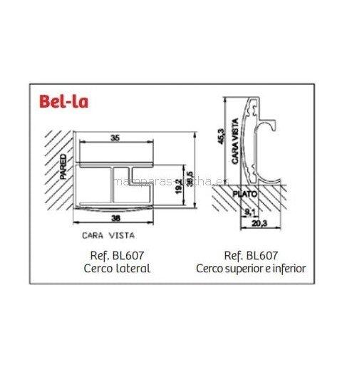 Mampara de ducha Fijo + Puerta corredera Bella