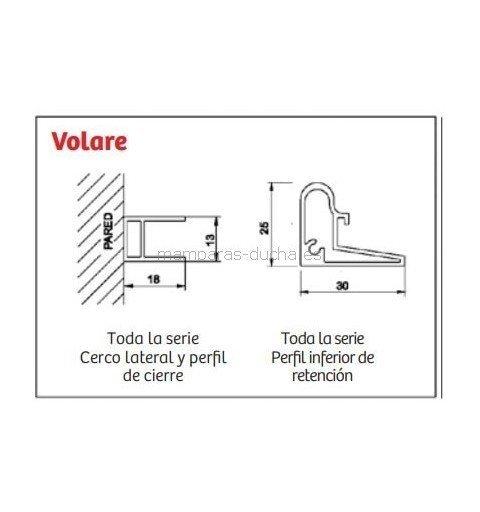 Mampara de ducha Fijo + Puerta corredera Volare