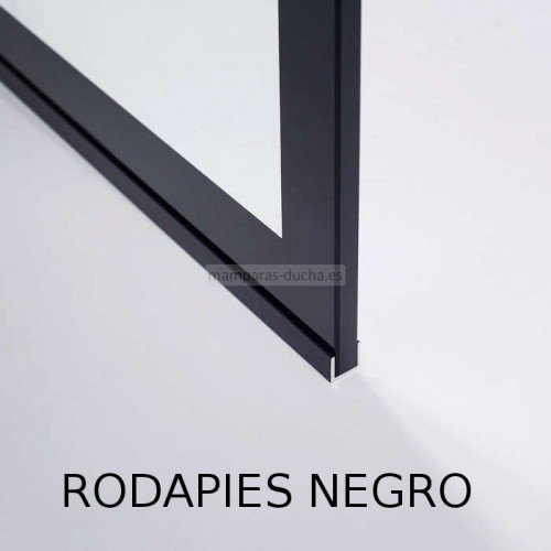 Mampara fija de vidrio serie black XXL
