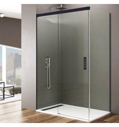 Mampara de ducha rectangular en Negro Basic