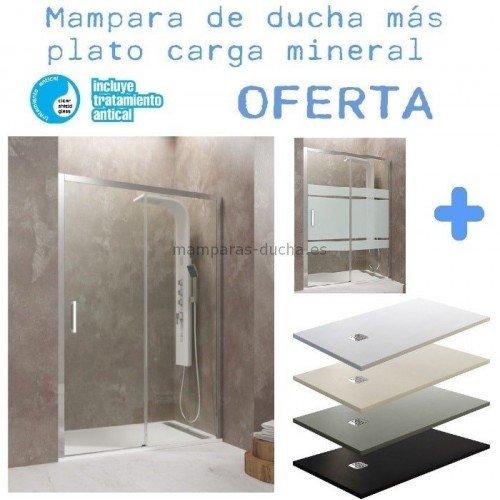 OFERTA Mampara de ducha frontal + plato de ducha