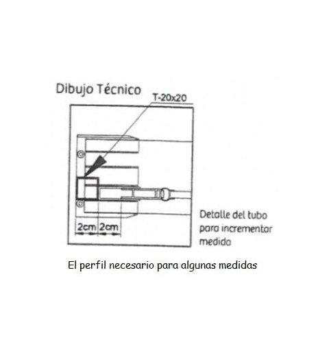 Mampara rectangular 3 puertas correderas Sabina