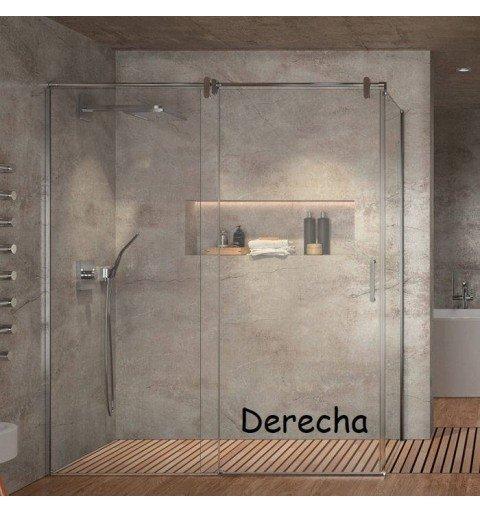 Mampara ducha rectangular Acero Inox. Slim