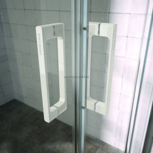 Mampara de ducha blanca angular Glasé