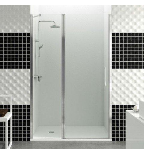 Mampara de ducha frontal 1 fijo más 1 puerta abatible