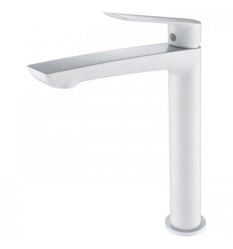 Grifo blanco caño alto de lavabo Luxor IMEX