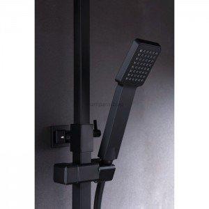 Columna de ducha negra Fiyi IMEX