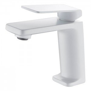 Grifo blanco monomando de lavabo Fiyi IMEX