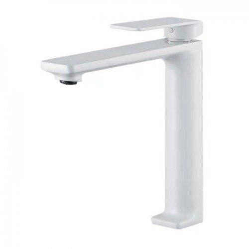 Grifo caño alto blanco de lavabo Fiyi IMEX
