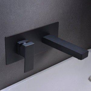 Grifo negro empotrado de lavabo Suiza IMEX