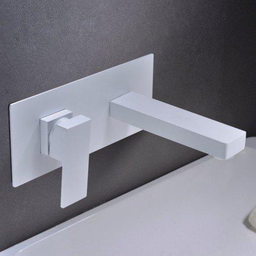 Grifo blanco empotrado de lavabo Suiza IMEX