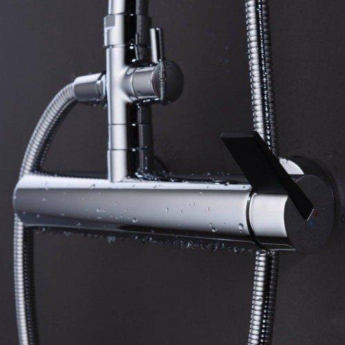 Columna de ducha plata / negro Elba IMEX