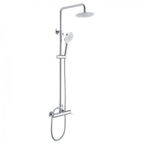Columna de ducha plata / blanco Elba IMEX