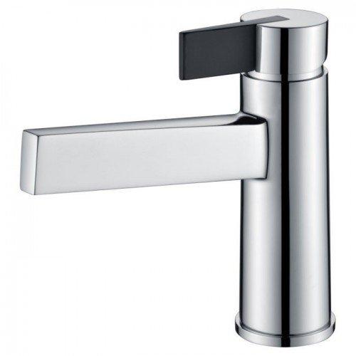 Grifo de lavabo plata / negro Elba IMEX