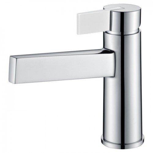 Grifo de lavabo plata / blanco Elba IMEX