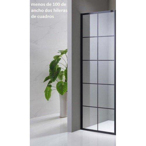 Mampara de baño fija de vidrio serie black