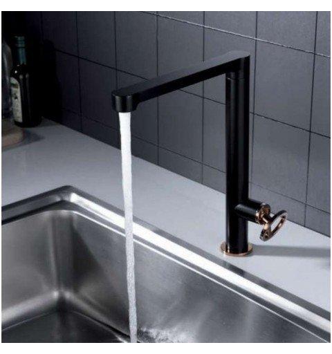 Grifo negro y rosa monomando lavabo Olimpo IMEX