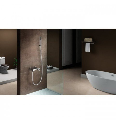 Grifería de ducha plata Olimpo IMEX