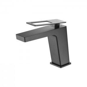 Grifo negro de lavabo Suecia IMEX