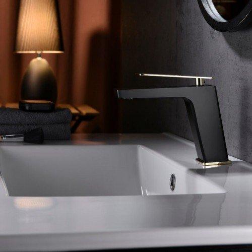 Grifo negro y oro rosa lavabo Suecia IMEX