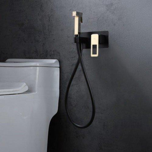 Grifo negro y dorado empotrado de bidé Suecia IMEX
