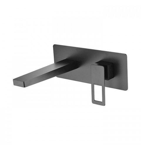 Grifo negro empotrado de lavabo Suecia IMEX