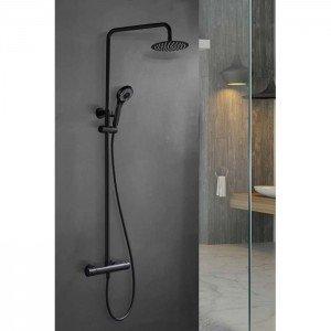 Columna negra termostática de ducha Kent IMEX