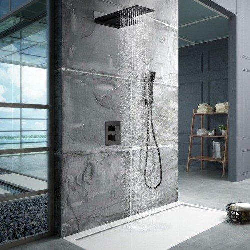 Ducha negra termostática empotrada Rodas IMEX