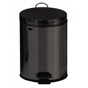 Cubo pedal 5l - negro mate