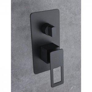 Ducha negra empotrada pared Suecia IMEX