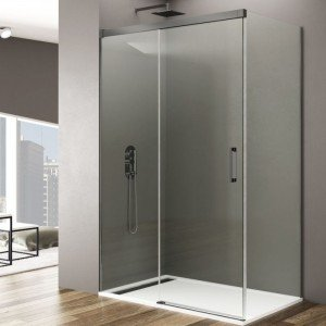Mampara de ducha en titanio...