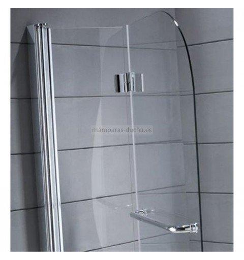 Mampara de bañera 2 hojas plegables + toallero/tirador