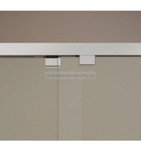 Mampara frontal de ducha con 2 puertas correderas gme