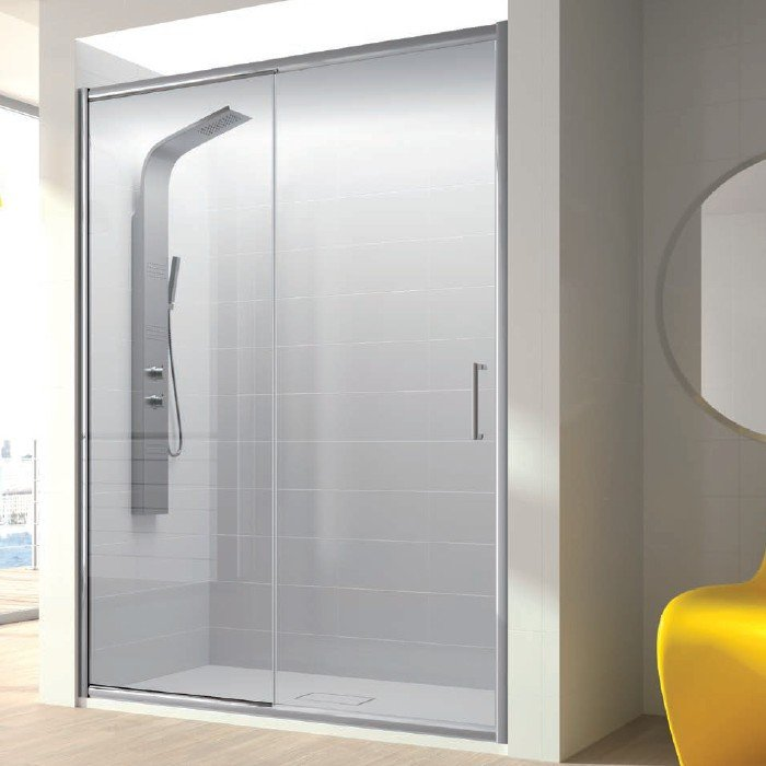 Mampara de ducha fijo + puerta corredera bella kassandra